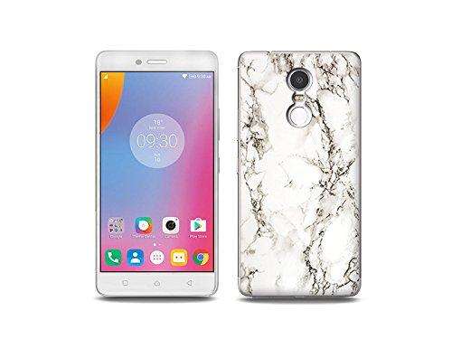 etuo Handyhülle für Lenovo K6 Note - Hülle Fantastic Case - Weißer Marmor - Handyhülle Schutzhülle Etui Case Cover Tasche für Handy