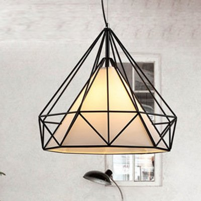 LINA-Europeo-americano contemporaneo soggiorno camera da letto sala da pranzo Lampadario in ferro battuto di diamante gabbia singola piramide ,