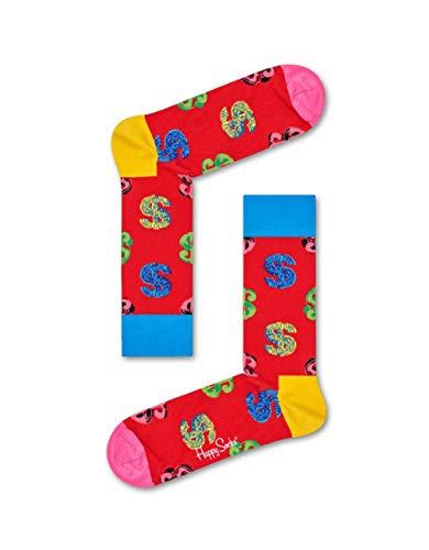 Happy Socks  Limited Edition Andy Warhols Dollar Unisex Freizeitsocken Größe 36-40 -