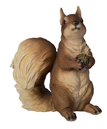Tierfigur Eichhörnchen Deko-Tier Polyresin Höhe 22,5 cm Skulptur Squirrel Tier-Deko Deko-Eichhörnchen