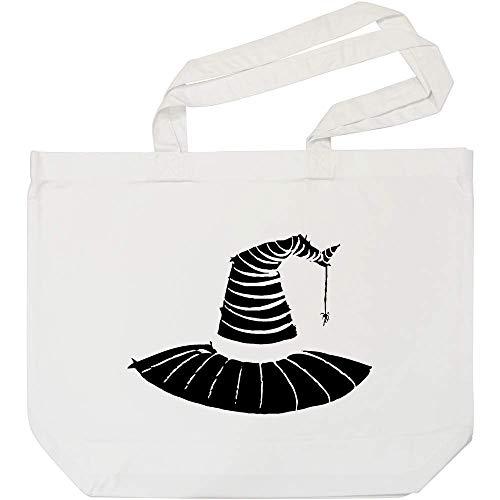 Azeeda 'Hexen Hut' Weiße Einkaufstasche ()