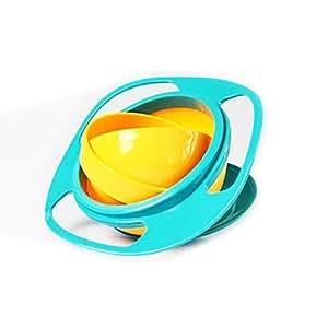 WHATWEARS pour bébé anti-renversement-Gyro Bowl Bol rotatif Bol pour bébé avec rotation à 360° pour éviter de renverser