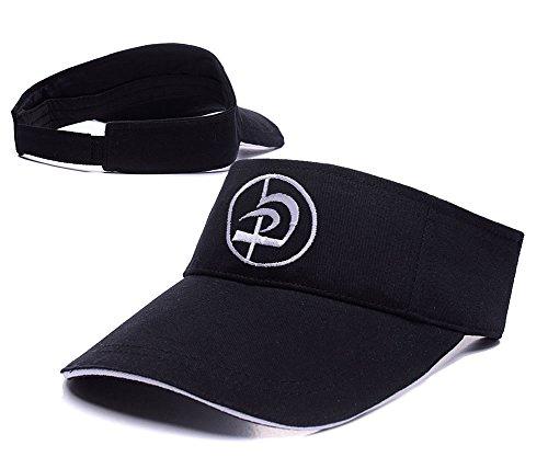 sianda-krav-maga-logo-visiere-de-golf-a-broder-hat-sun-pac-taille-unique-black-visor