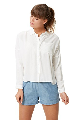 VERO MODA Damen Hemd Vmmerves L/S Shirt Dnm Boo Snow White