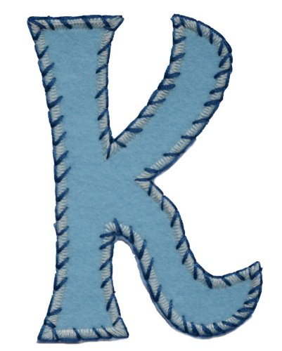 TrickyBoo iron-on fabric smallcase letter k1, 8-10cm personalizes diy kids name mend birthday Martial Arts Geckos, Newts Salamanders Tennis Zebras Travel Baseball letters fabric decor kid baby name gift toddler blue green red pink white stripe big small cm inch alphabet ABC craft sew on iron personal personalized a b c d e f g h i j k l m n o p q r s t u v w x y z 2016 word wool woodland wonder womens women wolf with wild wholesale western volkswagen vests vest velcro varsity vampire us unicorn (Zebra Büromaterial)