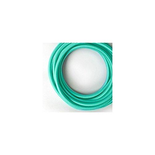 fil-electrique-tisse-de-couleur-turquoise-vintage-look-retro-en-tissu