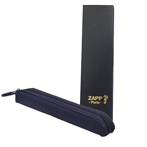 ZAPP- Custodia 100% in pelle di mucca per sigaretta sottile elettronica / E-Shisha (taglia S, blu), adatto per il tipo di batteria, 280mAh, 320 mAh, 650mAh, 900mah...