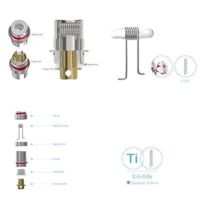 DIY-24H - Joyetech 5er Pack eGo ONE CLR Ti - 0.5 Ω Ohm Coils Head Verdampferköpfe für eGo ONE / Mega von DIY-24H