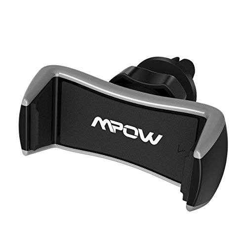 Mpow supporto auto del telefono per griglie del aire, supporto cellulare auto universale di ventilazione compatibile con iphone 8/7/7plus, google pixel, lg g6, huawei p9/p9plus, samsung galaxy s8s