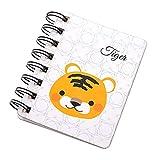 Demarkt 1 pcs Cahier de renversement de dessin animé Tigre mignon Créative Portable Notebook étudiant Simple Bloc-Notes 10.4 * 8.5cm