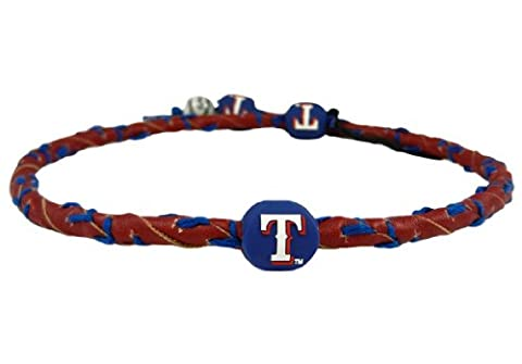 MLB Texas Rangers Red Team Color Frozen Rope Baseball Necklace