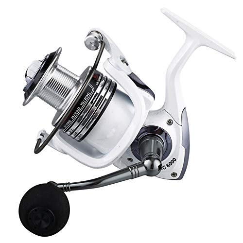 YAJAN-RotatingReel Spinning Angelrolle,Fishing Spule automatisch Falten Links und rechts Seefischerei,Aluminium Fisherman Frontbremse Bearings drehende Angelrolle, 1000-7000 5.2: 1