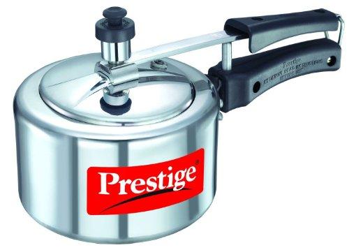 Prestige Nakshatra Aluminium Inner Lid Pressure Cooker, 1.5 litres, Silver