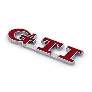 Appson Gti Metal Rear Boots Red 3d Car Emblem Badge
