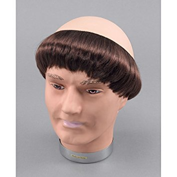 Price comparison product image NEW MONK WIG WITH SHORT HAIR FANCY DRESS UNISEX