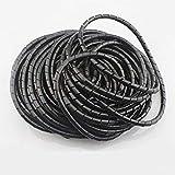 SODIAL 3D Stampante ritardante di fiamma 15 m lunghezza 6 mm avvolgimento a spirale nera involucri cavi manicotti avvolgitori fascia avvolgimento tubi