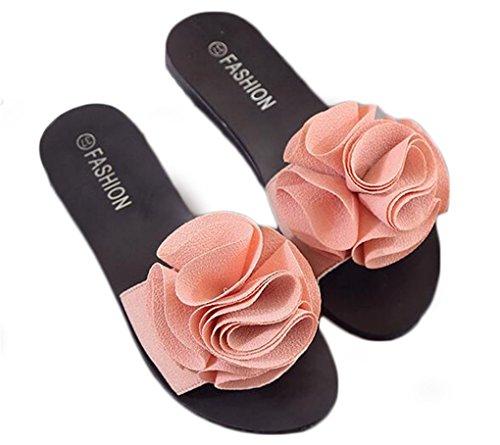 NEWZCERS Il bello fiore della parola del fiore delle donne, i pattini antisdrucciolevoli della spiaggia piana Rosa