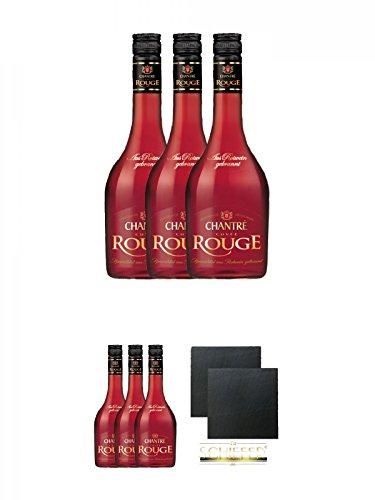 Chantrè Cuvee Rouge 3 x 0,7 Liter + Chantrè Cuvee Rouge 3 x 0,7 Liter + Schiefer Glasuntersetzer...