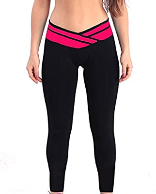 ABUSA Cotton Leggings Women's Fitted Yoga Pants