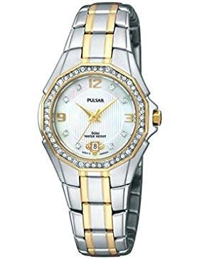 Pulsar Ladies Two Tone Watch With Swarovski Crystals