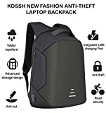 #8: Kossh Anti Theft, Waterproof Casual Backpack with USB Charging Point - Fashion Bag for 16 inch Laptop, 30 Ltrs - Black