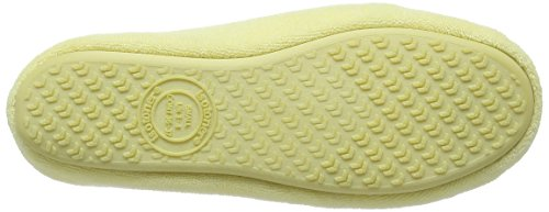 Isotoner Terry Ballet With Spot Bow Damen Hausschuhe Yellow (Yellow)