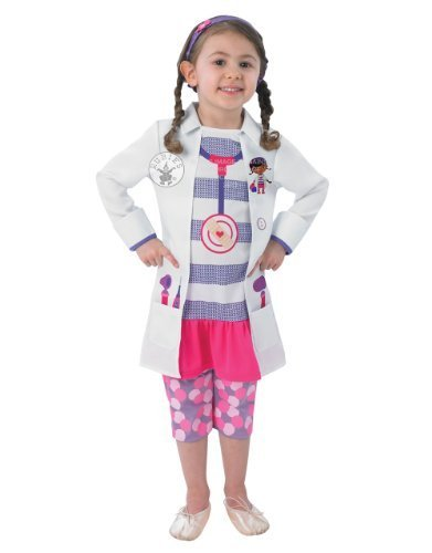 Doc McStuffin Costume, Kids Doc Outfit, Toddler, Age 2 - 3, HEIGHT 98 cm by Doc McStuffin