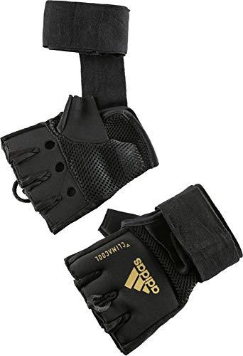 adidas Erwachsene Speed Quick Wrap Glove Innenhandschuhe, schwarz/Gold, S/M (Rdx Boxing Equipment)