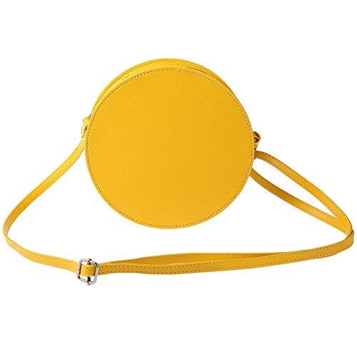 fashionbeautybuy - Borsa a tracolla donna giallo