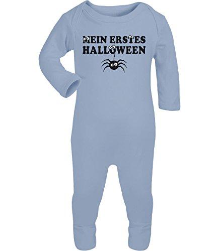 t Kostüm Mein Erstes Halloween Baby Strampler Strampelanzug 6M Hellblau (Meine Erste Halloween-outfit)