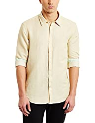 blackberrys Mens Casual Shirt (8907196635530_BT-SOFV02_42_Desert Beige)