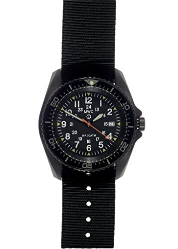 MWC Kampfschwimmer 12/24Military Automatik Taucher Armbanduhr in PVD Stahl Fall