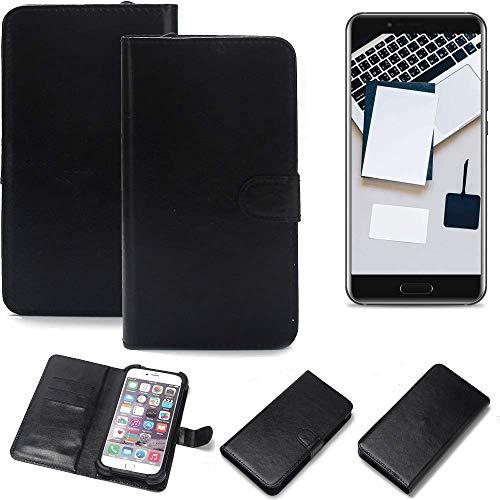 K-S-Trade Wallet Case Handyhülle für Blackview P6000 Schutz Hülle Smartphone Flip Cover Flipstyle Tasche Schutzhülle Flipcover Slim Bumper schwarz, 1x