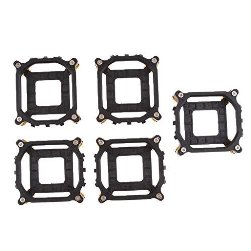 5 Backplate (perfk 5 Stücke CPU-Kühlkörperhalter-Retention Modul CPU-Kühlkörperhalter-Sockel)