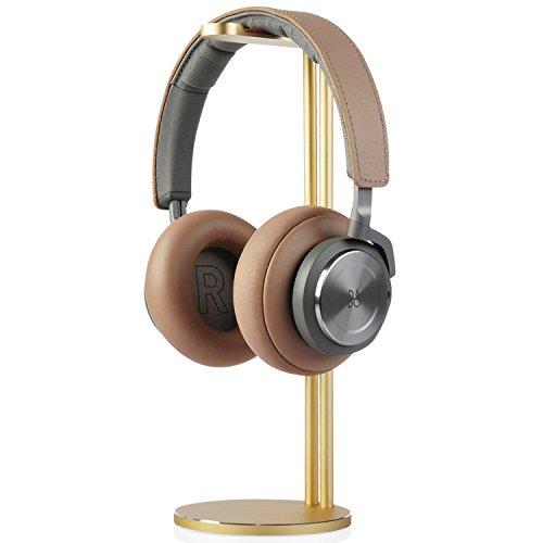Support pour écouteurs, Support pour écouteurs en aluminium Jokitech, adapté pour Beats, Sennheiser, Sony, Audio-Technica, Bose, Shure, AKG, Casques Panasonic et plus(Silver) (Gold)