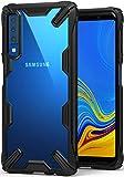 Ringke Coque Galaxy A7 2018, [Fusion-X] Transparente Antichoc de Protection [Militaire Défense Testée] Résistant aux Rayures PC Solide Rigide TPU Bumper pour Galaxy A7 2018 Coque - Black Noir