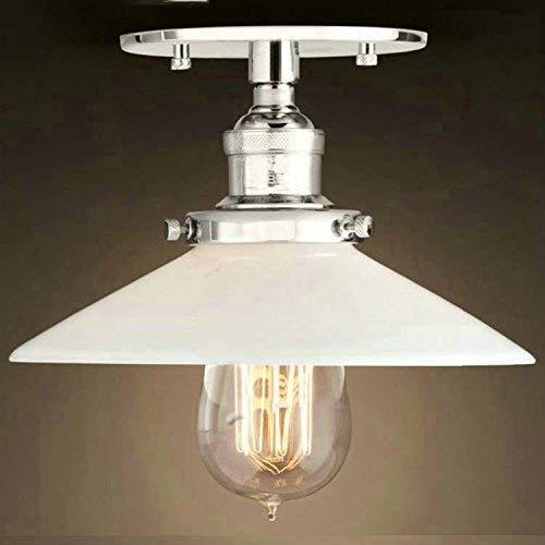 18 Semi Flush (DEJ Semi-Flush Mount Lampe 22 cm E27 Celling Light Küche Lampe Deckenleuchte Industrielle Beleuchtung Chrom mit Lampenschirm)