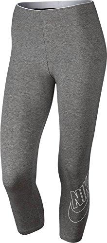 Nike W NSW lggng Crop Club Futura–TIGHTS, Womens, grau (DK GREY HEATHER/WHITE) Nike Lady-clubs