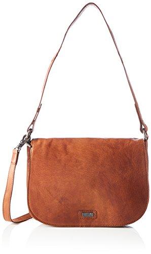Spikes & Sparrow Damen Flap Bag Umhängetasche, Braun (Brandy), 7x18x27 cm (Flap Bag)