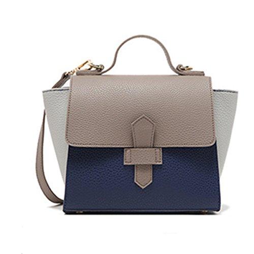 Wer Bin Ich 2017 Neue Handtasche Jian Jie Modehit Farbe Flip Schnalle PU Umhängetasche Diagonal GrayCover