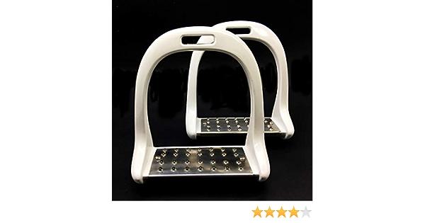 QSMYS Comfort Stirrup Stainless Steel 4-3//4 Inch