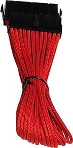 BitFenix Câble de rallonge ATX 24 broches Rouge/noir 30 cm