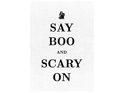 INTERLUXE LEINWAND SAY BOO AND SCARY ON Halloween Spruch Dekoration