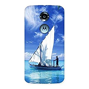 Delighted Boat Guy Back Case Cover for Moto X 2nd Gen