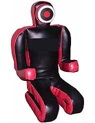 Bestzo MMA Artes Marciales Maniquí Grappling Brasileño Rojo / Negro Sentado Cuero sintético - 70 pulgadas-No llenado