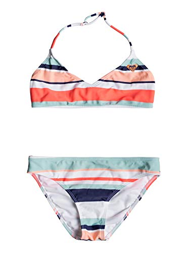 6139170f0d Roxy Happy Spring Two Piece, Niñas, Bright White on my Way Swim, 8