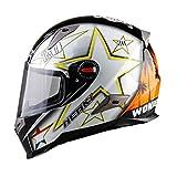 Casque de Moto pour Hommes, ABS, Pare-Soleil ABS Anti-buée, Casques de Moto, Casquettes de Motocross Racing