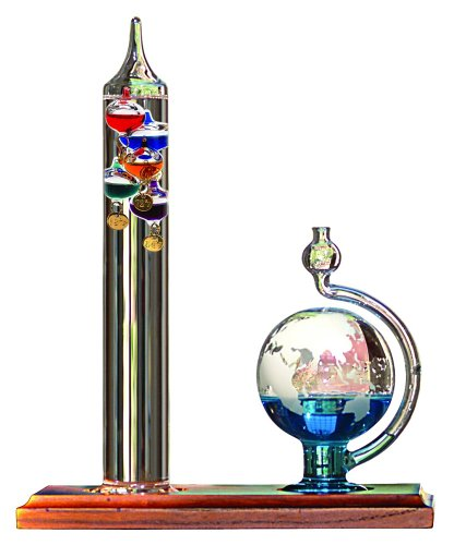 AcuRite 00795A2 Galileo Thermometer with Glass Globe Barometer by AcuRite