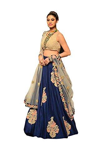 FebForrest Women\'s Blue Banglory Workwear Lahenga Choli [SL 25(FF_A1200)]