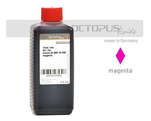 Preisvergleich Produktbild 100ml Octopus® Druckertinte, Nachfülltinte für Canon GI-590, GI-490 M, Canon Pixma G1500, G2500, G3500, G4500, G1400, G2400, G3400, Farbe Magenta (kein OEM)
